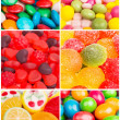 Collage of photos with different sweets — Stock Photo
