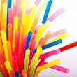 Stock Photo: Multi Color flexible straws