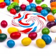 Colored candy on white background — Stock Photo