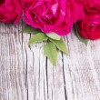 Stock Photo: Wood Background with Roses