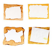 Old paper sheets isolated on white background — 图库照片