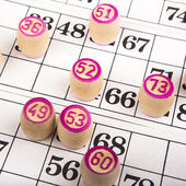 Bingo game background — Stock Photo