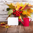 Bouquet of autumn flowers — Stock Photo #31890545