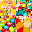 Collage of photos with different sweets — Stock Photo #35202181