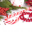 Stock Photo: Christmas Decoration Holiday Decorations Isolated on White Backg