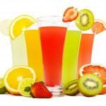 Fresh juices isolated on white — Stock Photo #35202291