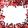 Stock Photo: Red stars confetti isolated on white background