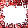 Red stars confetti isolated on white background — Stock Photo