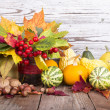 Bouquet of autumn flowers — Stock Photo #35203205