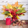 Bouquet of autumn flowers — Stock Photo #35203207