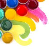 Studio konstnärliga, palett — Stockfoto