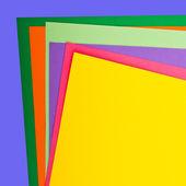 Kleurrijke geïsoleerd op wit papier — Stockfoto