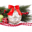 Christmas. Christmas Decoration Holiday Decorations Isolated on — Stock Photo #36038735