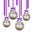 Christmas balls isolated on white background — Stock Photo