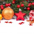 Christmas. Christmas Decoration Holiday Decorations Isolated on — Stock Photo