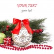 Christmas. Christmas Decoration Holiday Decorations Isolated on — Stock Photo #36381681