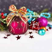 Christmas. Christmas Decoration Holiday Decorations Isolated on — ストック写真