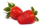 Strawberries isolated on white — Stockfoto