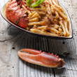 Pasta with lobster — Stock Photo