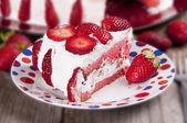 Tranche de gâteau au chocolat — Photo