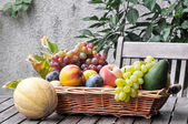 Assortment of fresh fruits and vegetable — Stock Photo