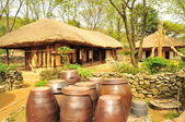 Korean traditional village house — Foto de Stock