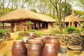 Maison de village traditionnelle coréenne — Photo