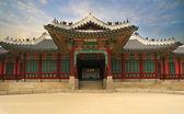 Pałac w korei południowej — Zdjęcie stockowe
