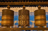 Buddhist prayer wheels in Swayambhunath — ストック写真