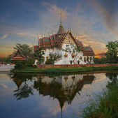 Replica of Dusit Maha Prasat Palace, Ancient Cityf Bangkok — Stock Photo