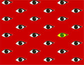 Red background with eyes — Stock Vector