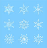 Set of beautiful snowflakes for Christmas — Stock Vector