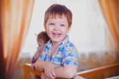 The beautiful baby smiles and happy — Stock Photo