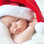 Sweet dream small santa before Christmas — Stock Photo #15659733
