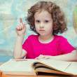 Little girl reading a book — Stock Photo #18570549