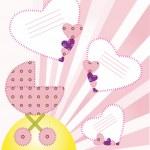 It's a boy. Background a newborn baby. EPS 10 Vectors — Stock Vector