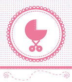 Postcard newborn baby. Vector EPS10 — Stock Vector