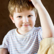 Stock Photo: Portrait of confident little boy