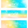 Set with the sun and the bokeh. Vector EPS10. - Stock Vector