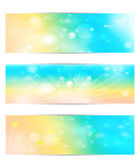 Set with the sun and the bokeh. Vector EPS10. — Stock Vector