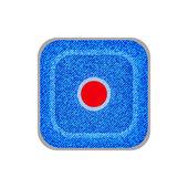 Kot düğmeleri kaydı. vektör eps10. — Stok Vektör