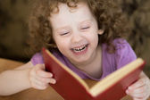 Little girl read the book — Stock Photo