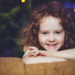 Close-up portrait  of the little girl — Stock Photo