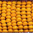 Big box of tangerines — Stock Photo