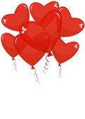 Balloons in the shape of a heart on a white background — Stock Vector