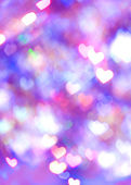 Violet bokeh for heart shape. — Stock Photo