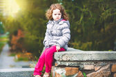 Serious little girl. — Stock Photo