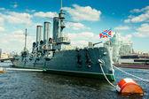 """The Cruiser """"Aurora"""". St. Petersburg. Russia. — Stock Photo"""