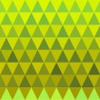 Seamless triangle green and yellow pattern — Stock Vector