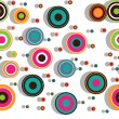 Colorful seamless pattern with concentric circles — Stock Vector